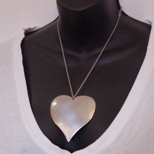 *3 For $25* Guess Oversized Silver Heart Necklace
